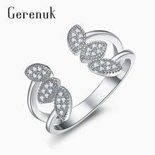 Gerenuk cz модное массивное цветочное открытое кольцо для женщин