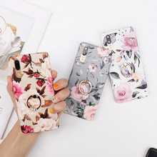 For iPhone XR XS Max 6 6S 7 8 Plus X Vintage Flower Phone Case For huawei P20 P30 Pro Mate20 mate 20pro Soft IMD Full Body Cover(China)