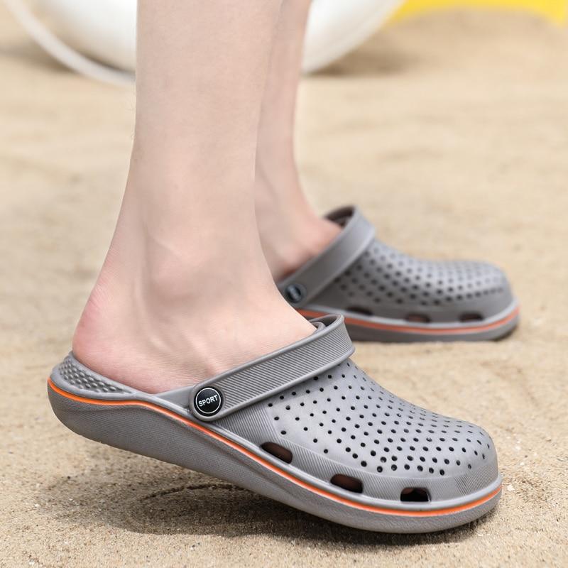 Coslony Men Sandals Crok Adulto Clogs Crocse Crocks shoes EVA Sandalias Summer Beach Shoes Slippers Cholas hombre Bayaband Croc