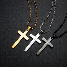 Vintage Cross Pendants Necklaces For Women Gold Color Pendants Jewelry Accessories Men Black Silver Necklace Religion Pendant