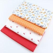160 centímetros * 50cm nêsperas cereja newborn vestuário vestido de algodão tecido da cama DIY patchwork pano de algodão tecido crianças handwork