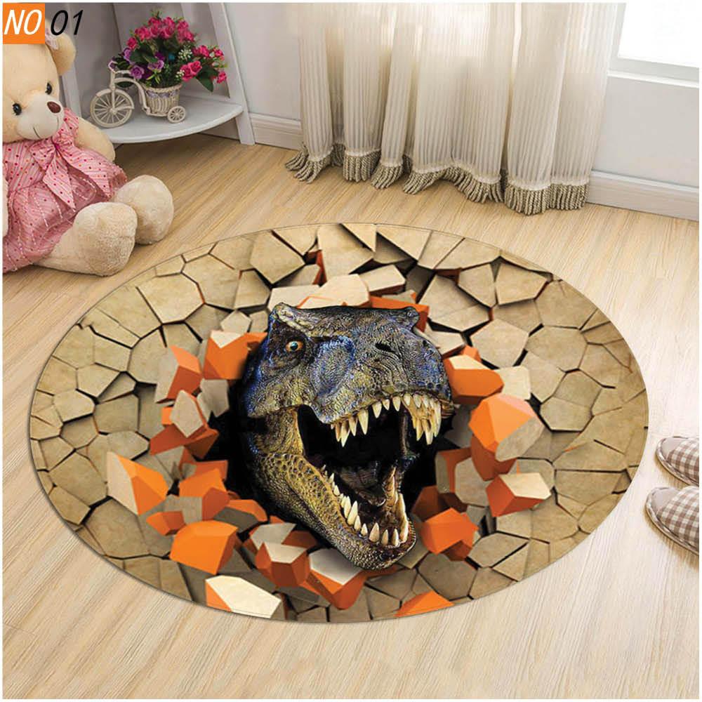 3d Cartoon Round Rug Carpet Home Decor, Round Gaming Chair Mat