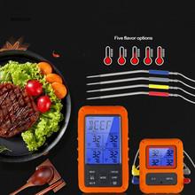 Bezprzewodowy 100M zdalny cyfrowy termometr do mięsa TS-TP40 Grill piekarnik kuchnia termometr z zegarem 4 sondy do grilla żywności piekarnik palacz tanie tanio CN (pochodzenie) Termometry kuchenne Other