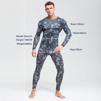 Men's Thermal Underwear For Men Male Thermo Camouflage Clothes Long Johns Set Tights Winter Compression Underwear Quick Dry