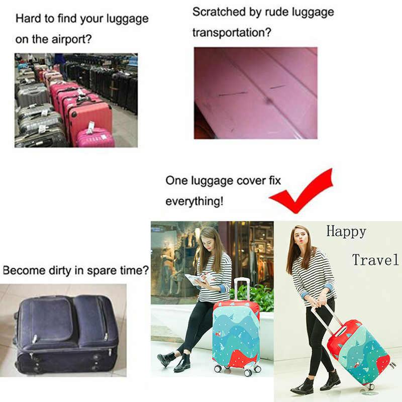 18-24 Inch Gepäck Abdeckung Weihnachten Stil Muster Koffer Schutzhülle Stretch Stoff Reise Zubehör
