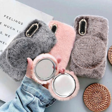 LCHULLE Cute Warm Fluffy Furry Case for Samsung