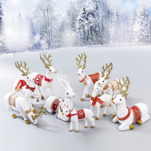 SOLEDI Смола Имитация моделирования белый олень стоящий магазин витрина Рождество Белый олень новогодняя игрушка офис