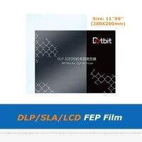 280*200mm 11*8 cal LCD światło ultrafioletowe FEP wkład do aparatu dla DLP SLA powielacz D8 3D część drukarki 8.9 cal LCD w Części i akcesoria do drukarek 3D od Komputer i biuro na