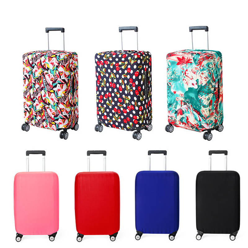 Travel Thicken Elastic Pure Color Luggage Suitcase Protective Cover, Apply to 18-32inch Cases, Travel Accessories