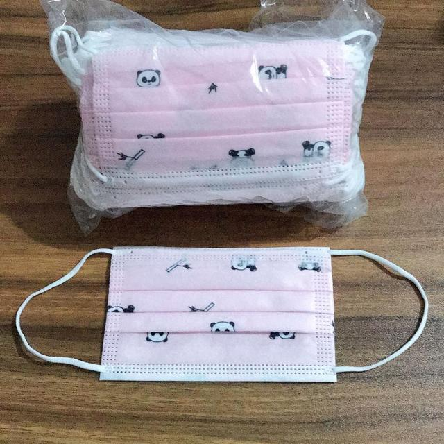 50Pcs Kids Child Disposable Cartoon Mouth Mask 3 Layer Breathable Children's Non Wovens Mask Thick Warm Face Earloop Mask 4