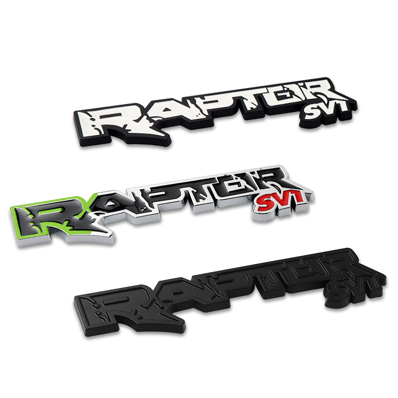 New Metal Alloy RAPTOR SVT Emblem Car Styling sticker decoration For ford <font><b>F150</b></font> Fiesta SUV mustang Ranger Galaxy car <font><b>Accessories</b></font> image