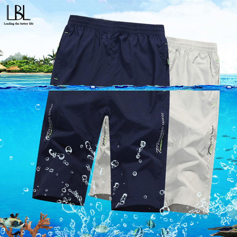 2020 Summer Casual Shorts Men Workout Cargo Shorts Male Elastic Waist Mens Beach Shorts New Zipper Pocket S-5XL Fitness Clothing