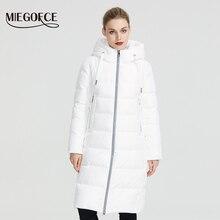 MIEGOFCE 2020 Новая зимняя женская коллекция курток пальто женское зимнее длина ниже колен теплое пальто с капюшоном европейский и американский стиль защищает от ветра и холода сохраняя тепло внутри