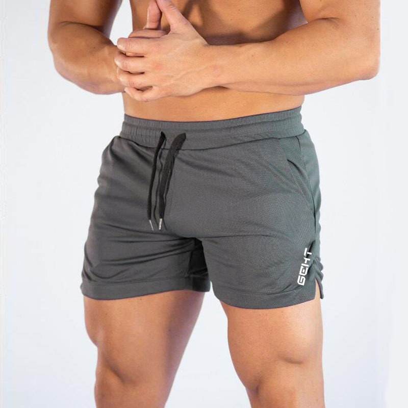 2019 Men Fitness Bodybuilding Shorts Man Summer Gyms Workout Male Breathable Mesh Quick Dry Sportswear Jogger Beach Short Pants