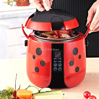 Cute Beetle shaped Design Smart Rice Cooker with 24H Reservation Best Rice Cooker Non stick Liner/ LED Display 1.2L 3 Colors