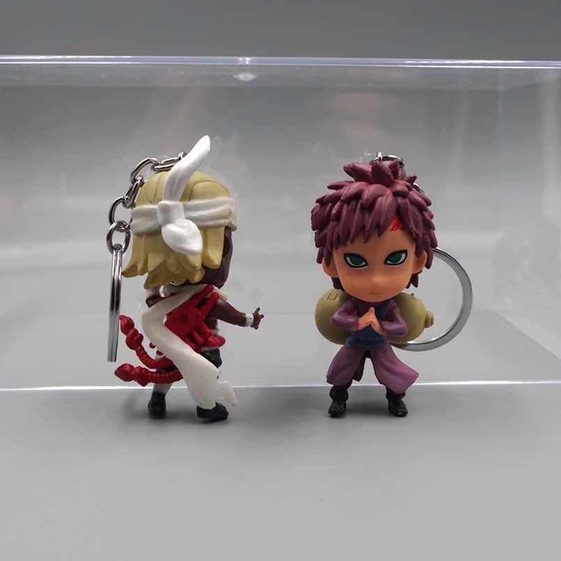 6 sztuk/zestaw japońskie anime Uzumaki Naruto Sasuke JIRAIYA Nara Shikamaru pcv figurka brelok zabawki zabawka-model do kolekcjonowania prezent