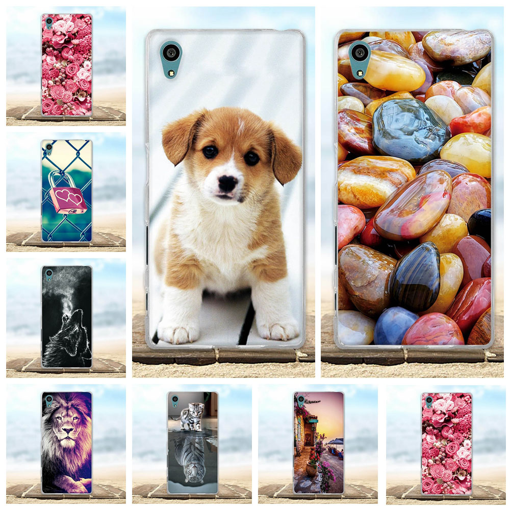 For <font><b>Sony</b></font> <font><b>Xperia</b></font> <font><b>Z5</b></font> <font><b>Case</b></font> Soft Silicon TPU Back Cover 3D Cute Pattern Bags For <font><b>Sony</b></font> <font><b>Z5</b></font> E6003 E6633 <font><b>E6653</b></font> E6683 5.2'' Phone <font><b>Cases</b></font> image