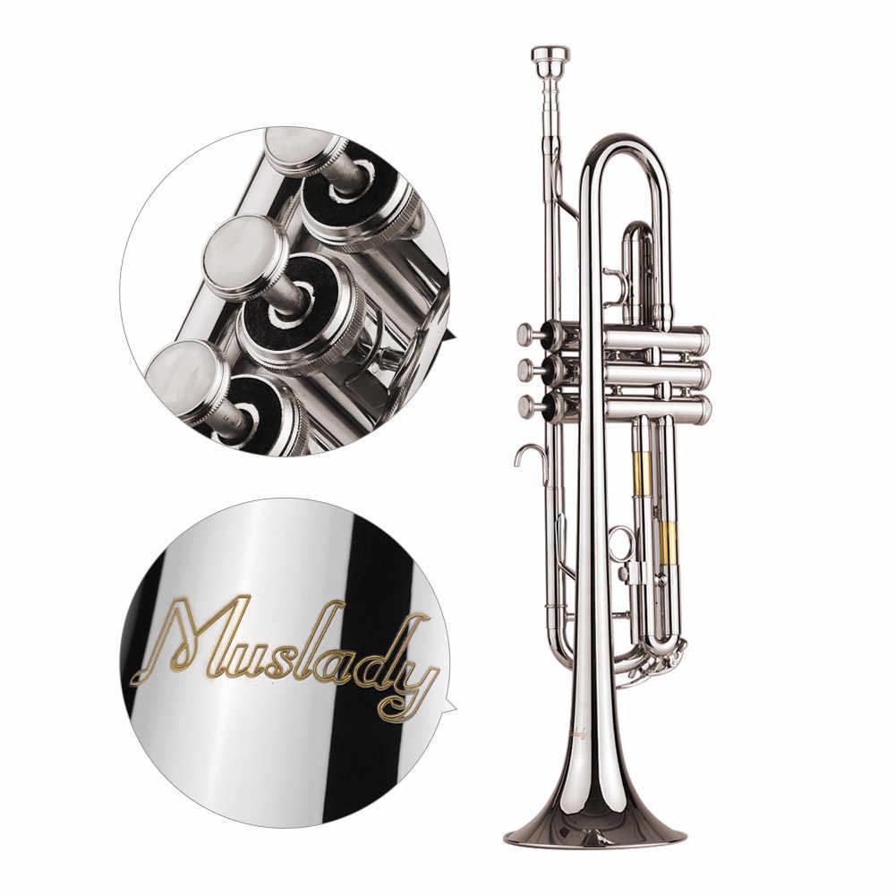 Muslady 標準 Bb トランペット真鍮素材 Nickle のメッキ管楽器マウスピースキャリーバッグ手袋クリーニングクロス