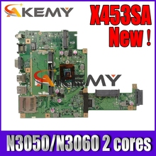 Akemy X453SA Laptop Motherboard N3050/N3060 2 cores For Asus X453S X453SA X453 F453S Mainboard test 100% OK
