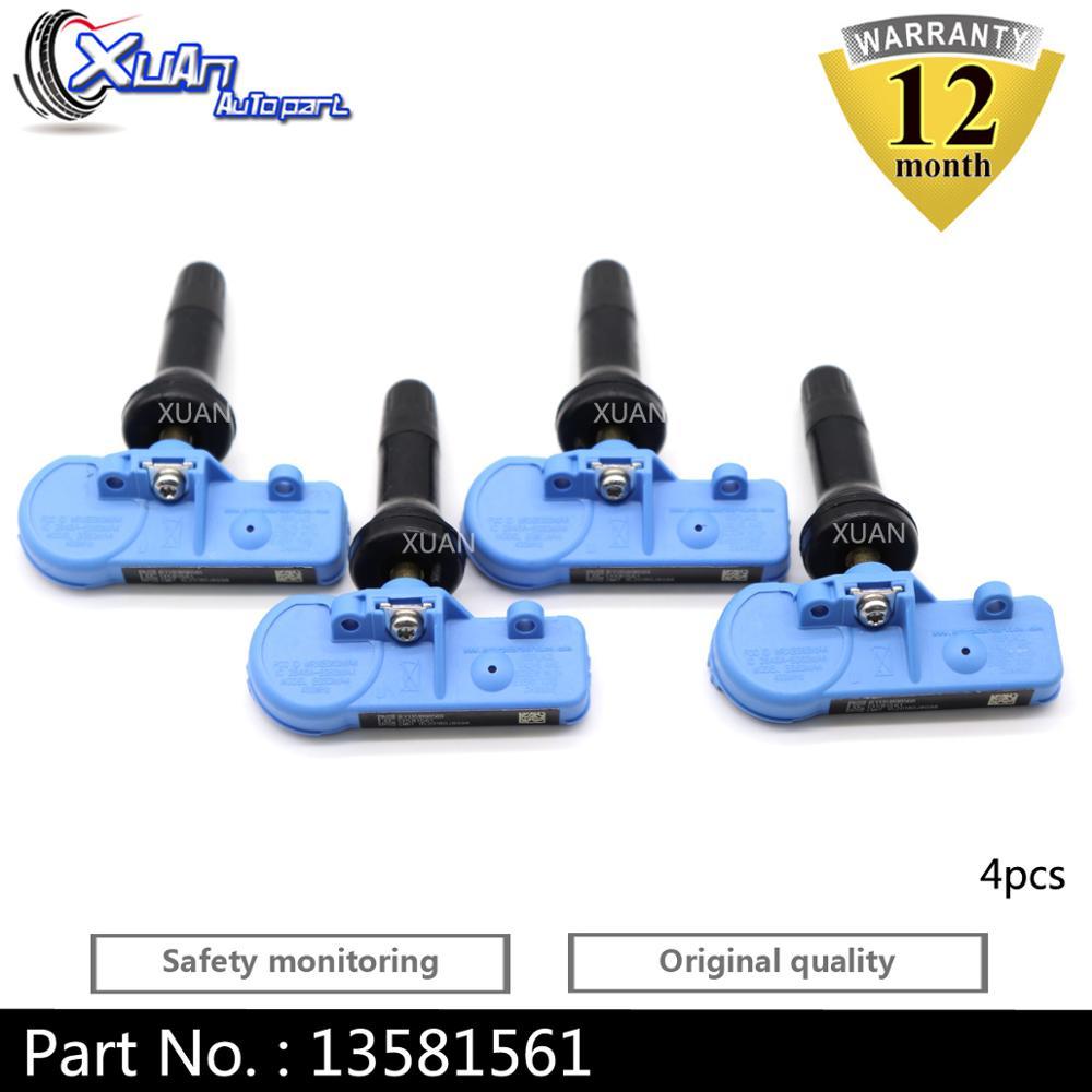 XUAN 4 PCS Tire Pressure Monitor Sensor TPMS For Opel Buick Enclave Cadillac CTS SRX XTS Escalade GMC Acadia 433MHZ 13581561