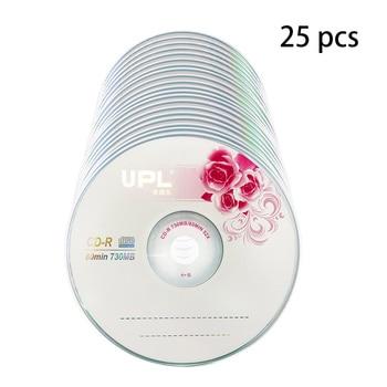 25PCS CD-R 700MB/80min Blank Disc Grade A 52X Multispeed Music CD Disk 1