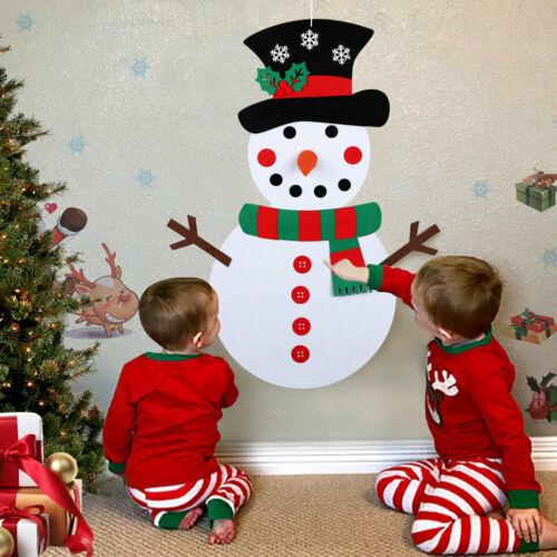 Diy Snowman Felt Christmas Set Kids Diy Xmas Wall Hanging Decor Art Craft Door Wall Hanging Ornaments Gifts Kids Navidad Noel Movies Tv Toys Hobbies Aliexpress