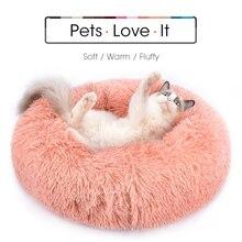 Round Plush Cat Bed