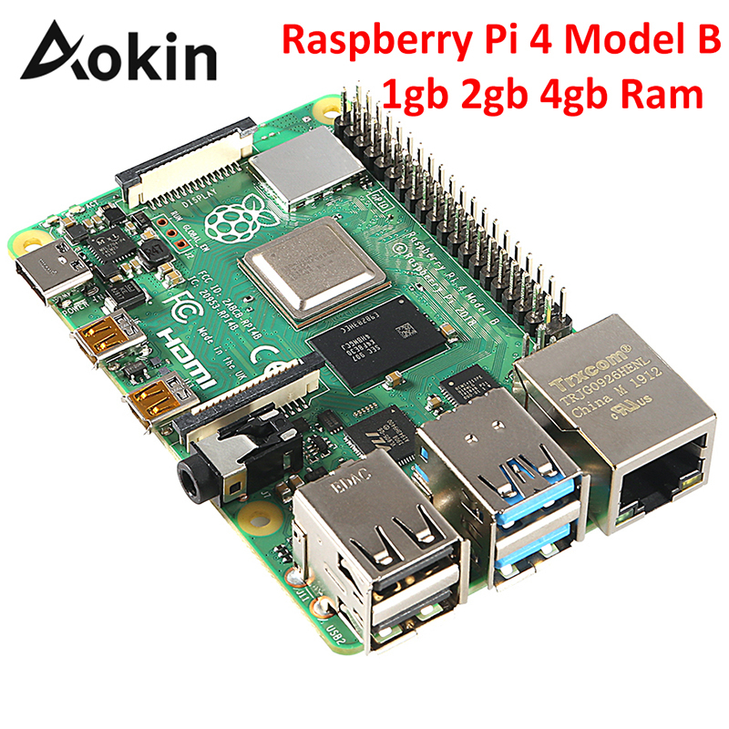 <font><b>Raspberry</b></font> <font><b>Pi</b></font> <font><b>4</b></font> <font><b>Model</b></font> <font><b>B</b></font> 4gb <font><b>2gb</b></font> 1gb Ram Bcm2711 Quad Core Cortex-a72 Arm V8 1.5ghz Support 2.<font><b>4</b></font>/5.0 Ghz Wifi Bluetooth 5.0 image