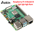 Raspberry Pi 4 Model B 4gb 2gb 1gb Ram Bcm2711 Quad Core Cortex-a72 Arm V8 1.5ghz Support 2.4/5.0 Ghz Wifi Bluetooth 5.0
