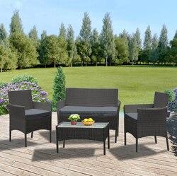 Panana, большой ротанг, диван, стул, стол, 4 шт., горячая распродажа, плетеная садовая мебель, журнальный столик, ротанг, диван, стул, стул, быстрая ...