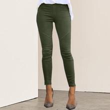 2019 Womens Slim Fitness Leggings Jeans Leggings Blue Striped Print Leggings Women Imitation Jean Elastic Seamless Leggins