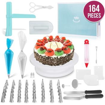 164pcs Baking Pastry Tools Set Cake Decorating Supplies Kit for Beginners with Baking Tools home party Bakeware