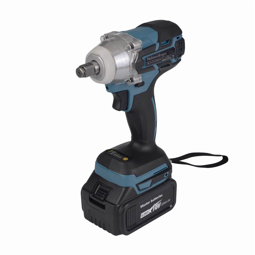 Electric Rechargeable Brushless Impact Wrench Cordless with one 18V 4 0Ah Lithium Battery
