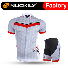 цена на Nuckily cycling short sleeve jersey with short spider man summer suit for men AJ232BK293