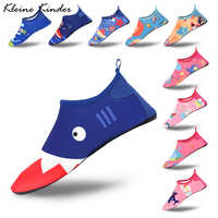 Kinder Barfuß Turnschuhe Sport Aqua Wasser Schuhe Schwimmen Socken Nette Shark Kinder Mädchen Jungen Strand Waten Surfen Tauchen Pantoffel