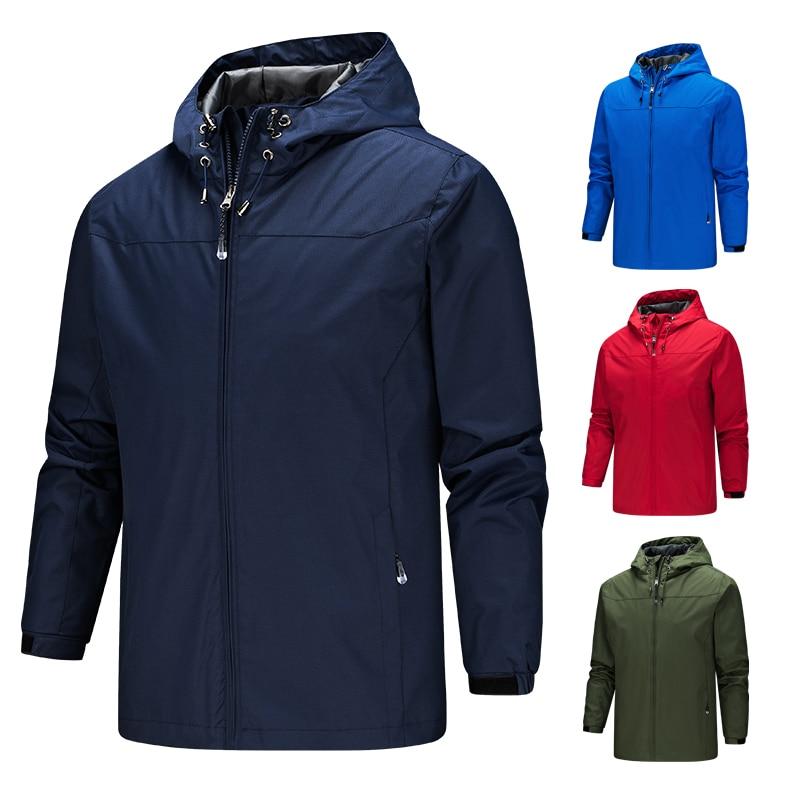 2019 Homme jacket men new coats plus size S-5XL solid color hooded Thin windbreaker jacket windproof and waterproof outdoor men