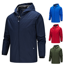 2019 Homme jacket men new coats plus size S-5XL solid color hooded Thin windbreaker windproof and waterproof outdoor