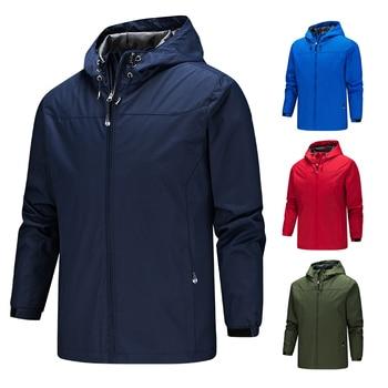 2019 Homme jacket men new coats plus size S-5XL solid color hooded Thin windbreaker jacket windproof and waterproof outdoor men original new arrival official adidas men s windproof jacket hooded sportswear