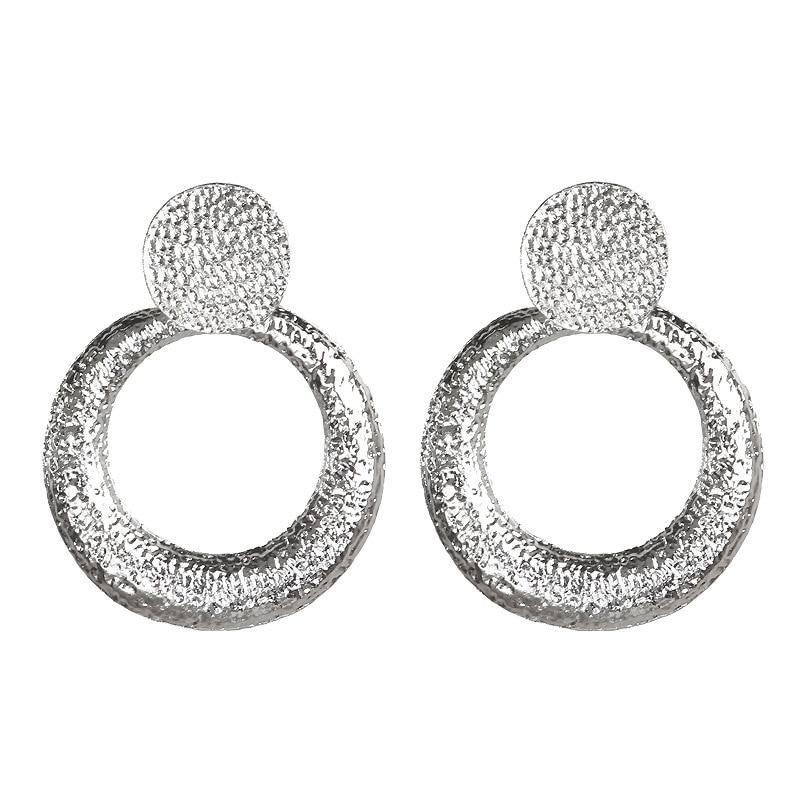 Mostyle 30 стилей модные большие винтажные золотые серебряные розовые золотые геометрические массивные металлические Висячие серьги для женщин - Окраска металла: 62943