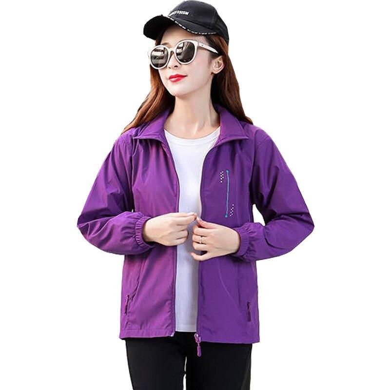 Women's Jackets 2020 Spring Causal Windbreaker Women Basic Jackets Coats Zipper Lightweight Jackets Bomber Famale Coat Plus Size