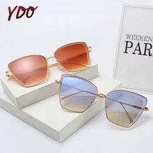 YDO Sunglasses Women Luxury Oversized UV400 Cat Sun Glasses Trendy Fashion New 2019 Designer Vintage Female Ladies Big Shades