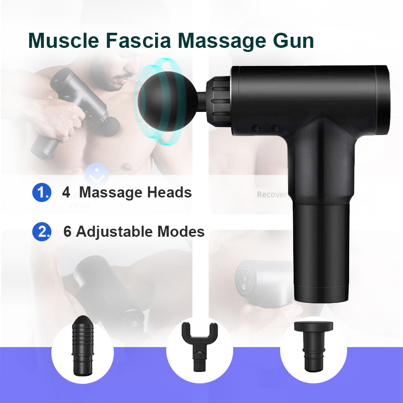Massage Muscle Massager Fascia Muscle Gun Muscle Relaxer Massager Electric Shock Gun Sports Recovery Deep Tissue Massager Muscle