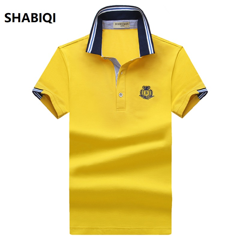 SHABIQI 2019 Brand Mens Polo Shirt Cotton Short Sleeve Shirt For Men Camisa Polos Homme Classic Casual Size 6XL 7XL 8XL 9XL 10XL