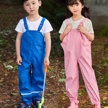 Jumpsuit Trousers Spring-Pants Children's Overalls Rain Toddler Baby-Girls Waterproof