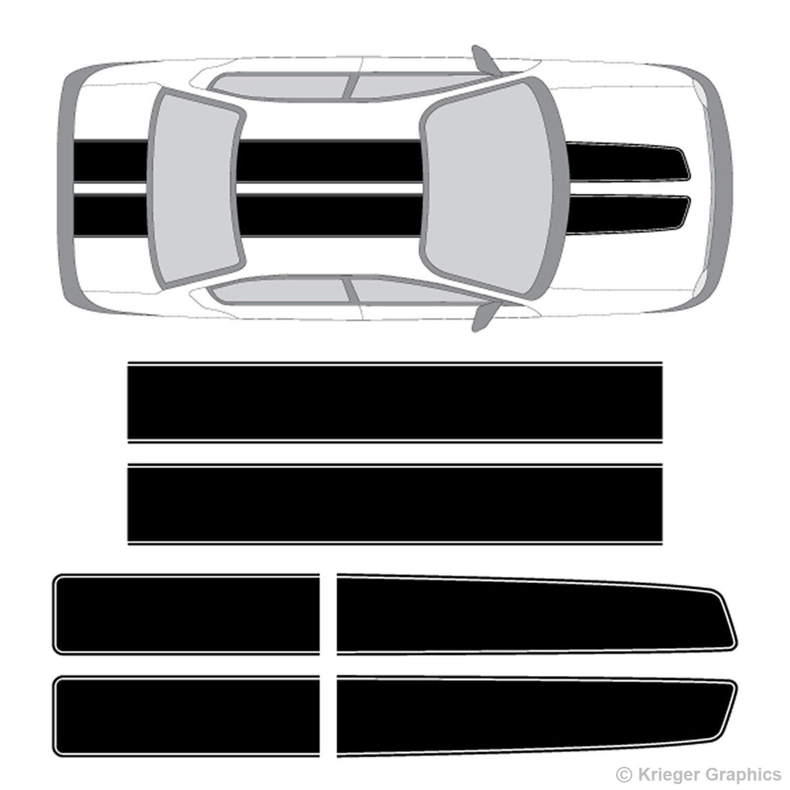 VINYL ROCKER STRIPES RALLY RACING SIDE BODY STRIPE DECAL GRAPHICS For FORD F150