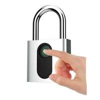 Parmak izi asma kilit  akıllı güvenlik kilidi şarj  anti-hırsızlık anahtarsız asma kilit  kapalı için uygun kapılar  valizler  Ba