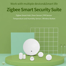 EWeLink Zigbee חכם חבילת אבטחה חכם רכזת & דלת חיישן & PIR חיישן וטמפרטורה ולחות חיישן & אלחוטי כפתור