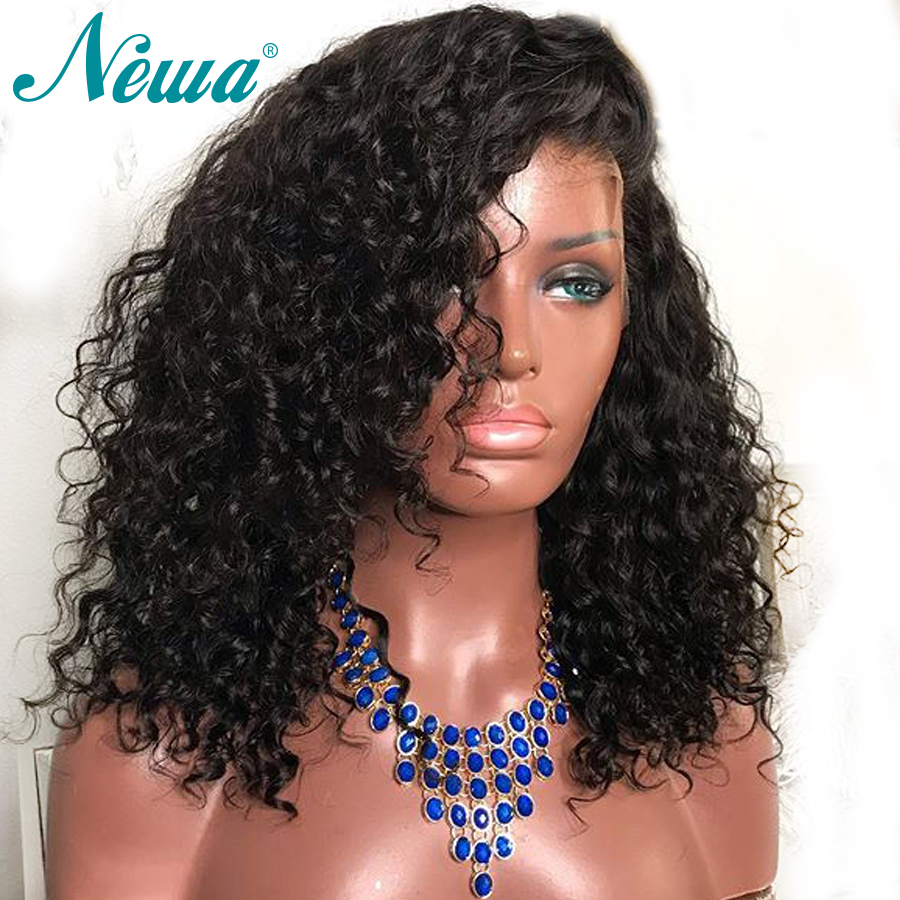 Newa Hair Pre Plucked 360 Lace Frontal Wig With Baby Hair Water Wave Lace Front Human Hair Wigs For Women Brazilian Remy Hair