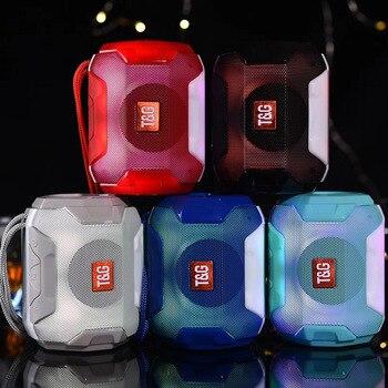 Altavoz con Bluetooth y Radio LED, Mini altavoz inalámbrico portátil, sistema de...