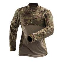 Mege Camiseta táctica militar para hombre, camiseta de manga larga del ejército de camuflaje para gimnasio, ropa de combate de soldados, uniforme Airsoft, camisa de camuflaje